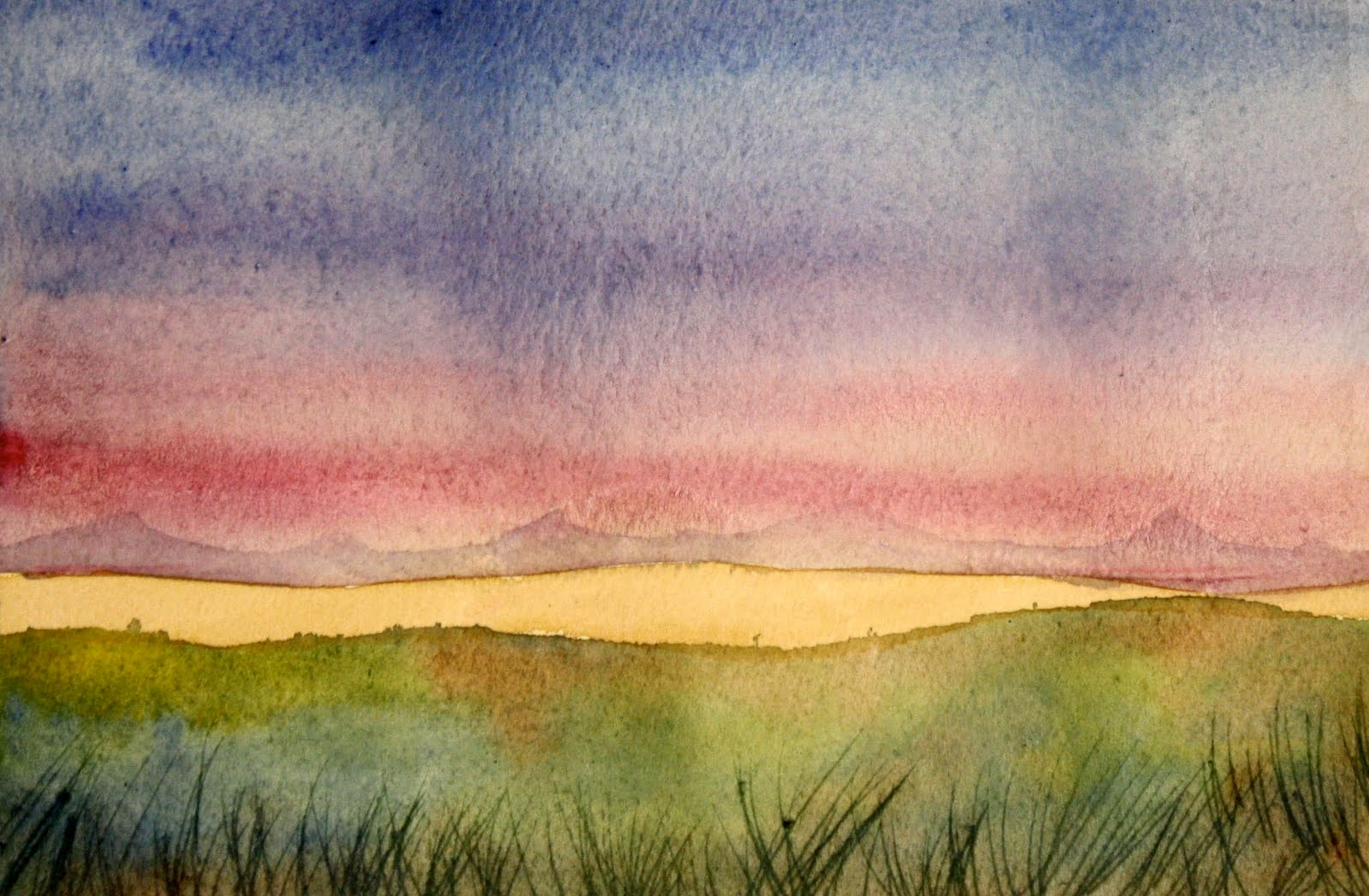 Easy Watercolor Painting Landscape