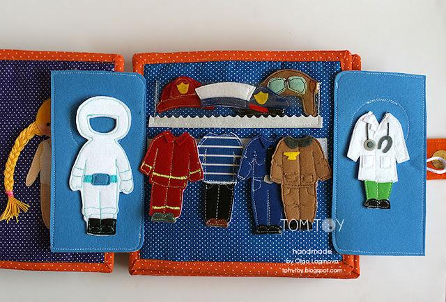 Handmade cloth quiet busy book for Sergio, развивающая книжка
