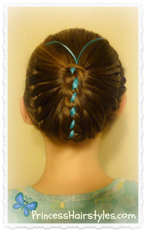 Butterfly hairstyle video tutorial