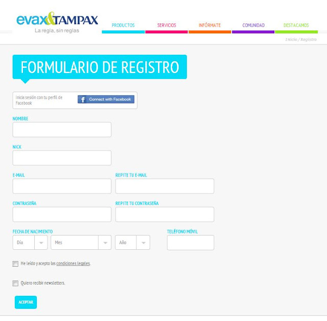 Muestras gratis Evax Tampax