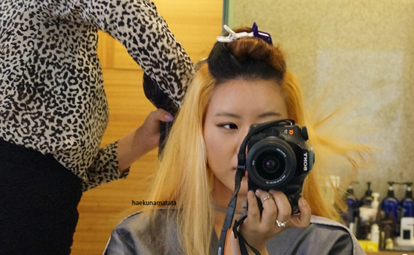 Asian hair bleaching two tone 2