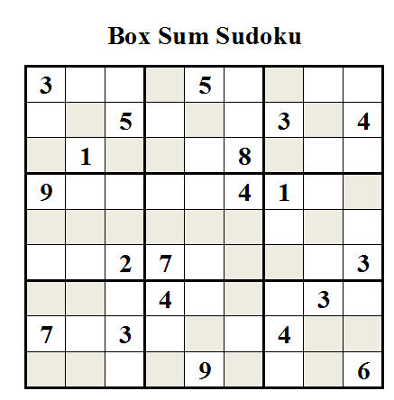 Box Sum Sudoku (Daily Sudoku League #18)