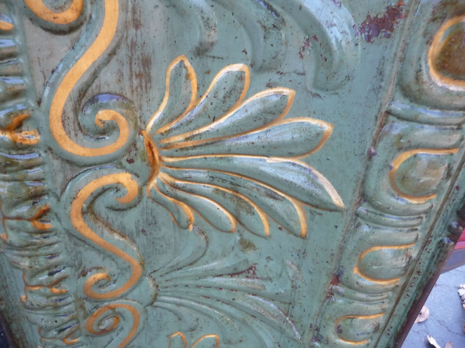Lady antique dealer antique tin ceiling tile patina a little soap and water and these pieces will be perfect great old paint cant fake that dailygadgetfo Image collections