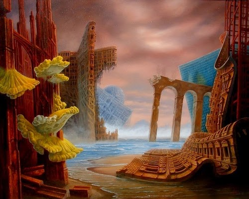 17-After-the-Flood-Marcin-Kołpanowicz-Painting-Architecture-in-Surreal-Worlds-www-designstack-co
