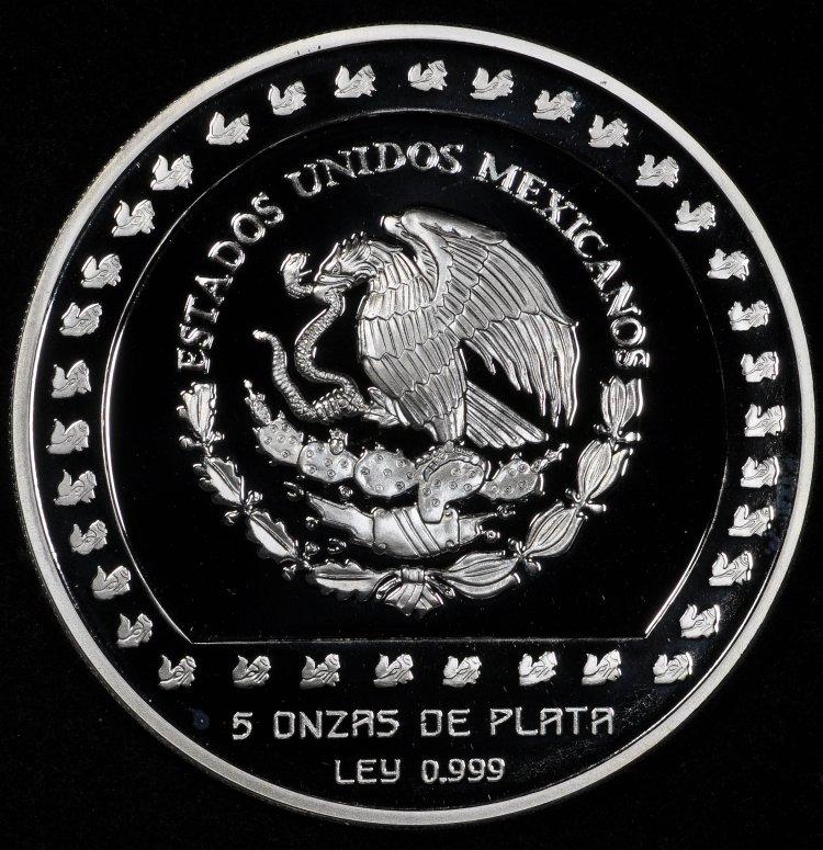 Mexican Commemorative Coins 10 Nuevo Pesos Silver Coin