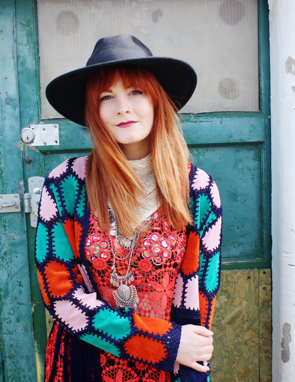Rainbow Topshop Crochet Jacket