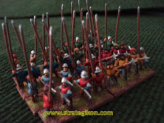 French pikemen and halberdiers