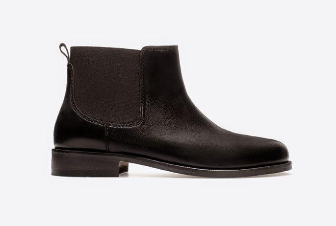 chelsea boots black zara