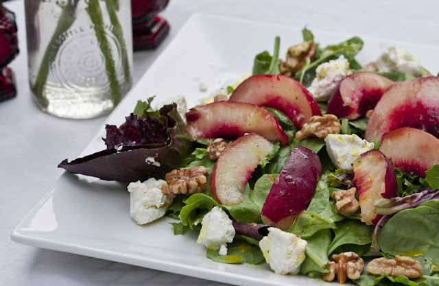 Nectarine Salad with Arugula and Goat Cheese recommend
