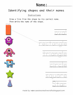 Printable School worksheet. Copyright of Cassie's Creative Crafts