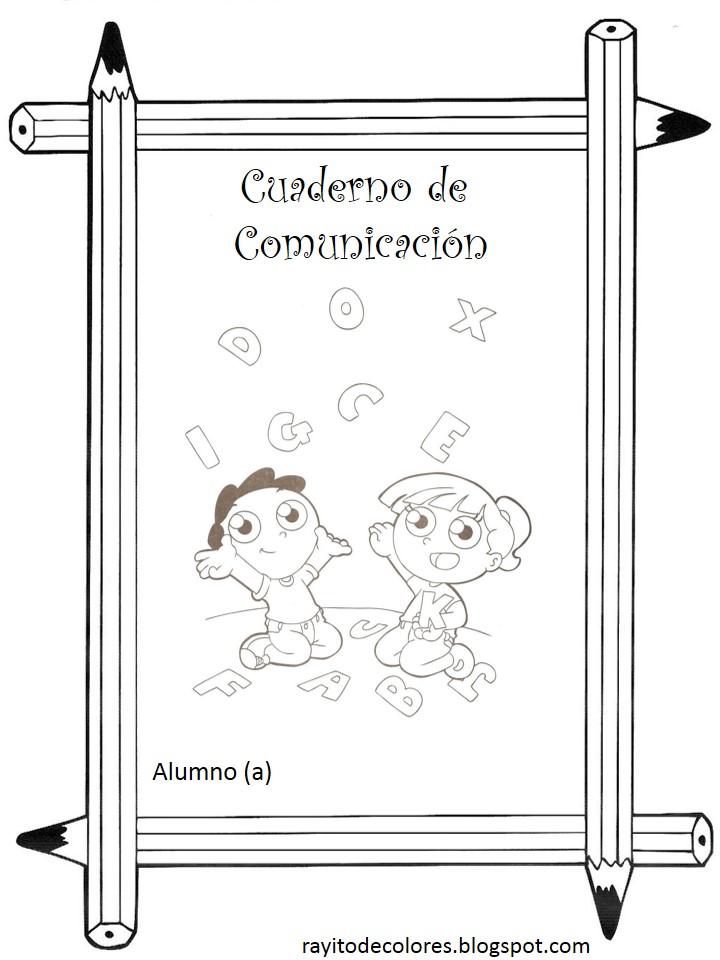 carátula escolar para comunicación