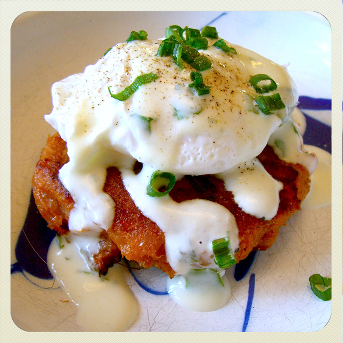 Chocolate + Chard: SWEET POTATO CAKES with A POACHED EGG ...