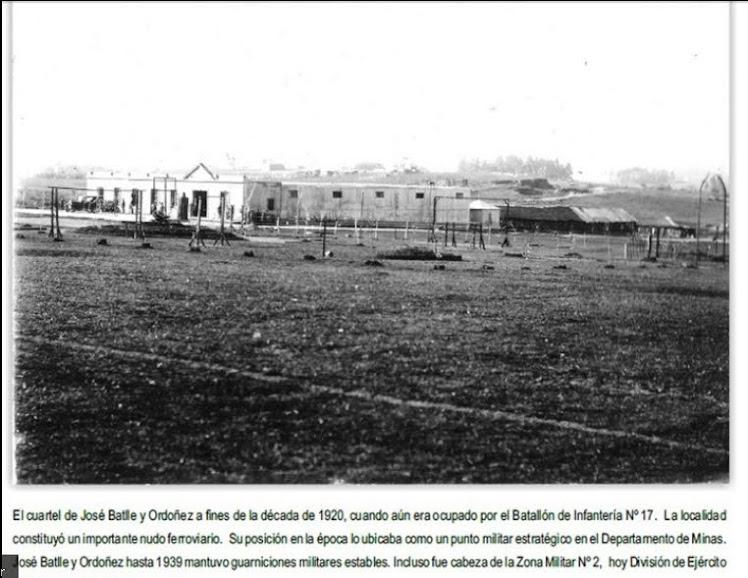 Cuartel  del batallón que residió en Nico Pérez desde 1908