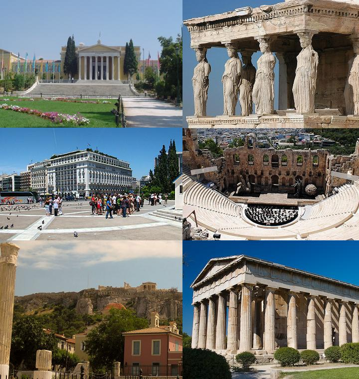 Top sightseeing attractions in Athens, Greece