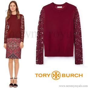 Princess Medeleine Style TORY BURCH merino peplum sweater