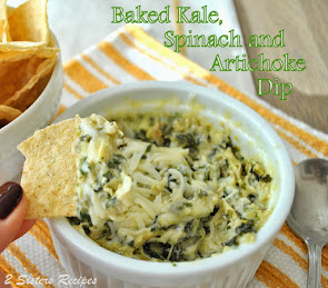 BAKED Kale, Spinach & Artichoke Dip