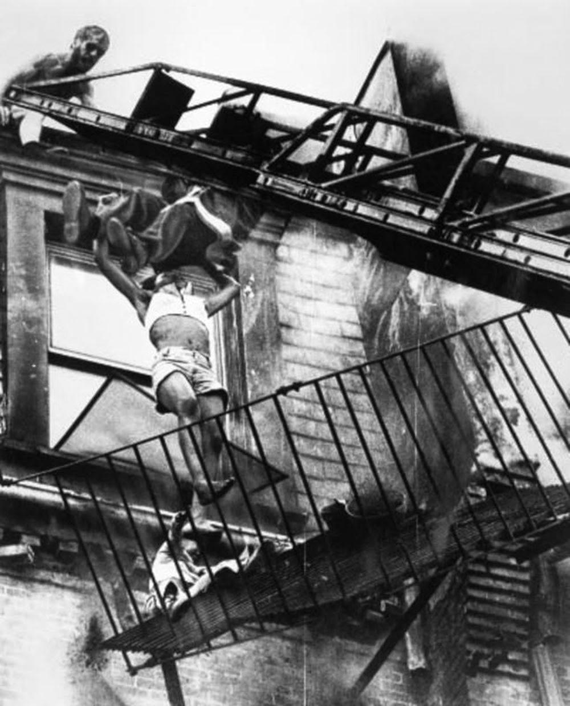 When the fire escape collapsed.