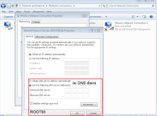 konfigurasi TCP/IP untuk DNS