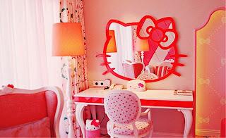 Desain kamar anak hello kitty