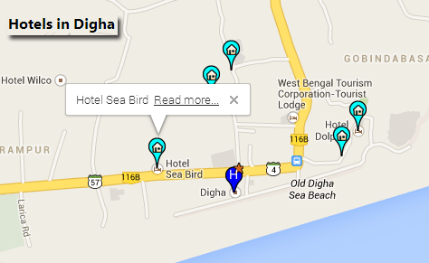 how to show multiple locations on google maps in asp.net