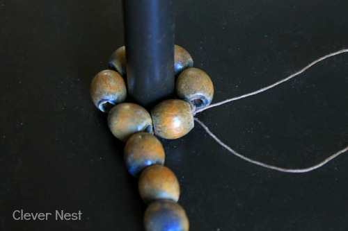 making over a cheap floor lamp using beads! you have to see the &quot;after&quot; pics!