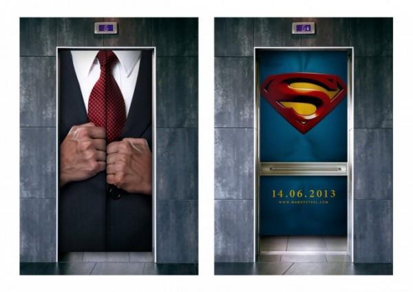 Man of Steel: Publicidad Ascensor