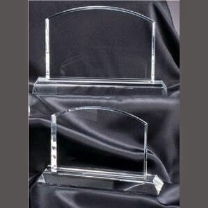 Small Arched Rectangle Crystal Award