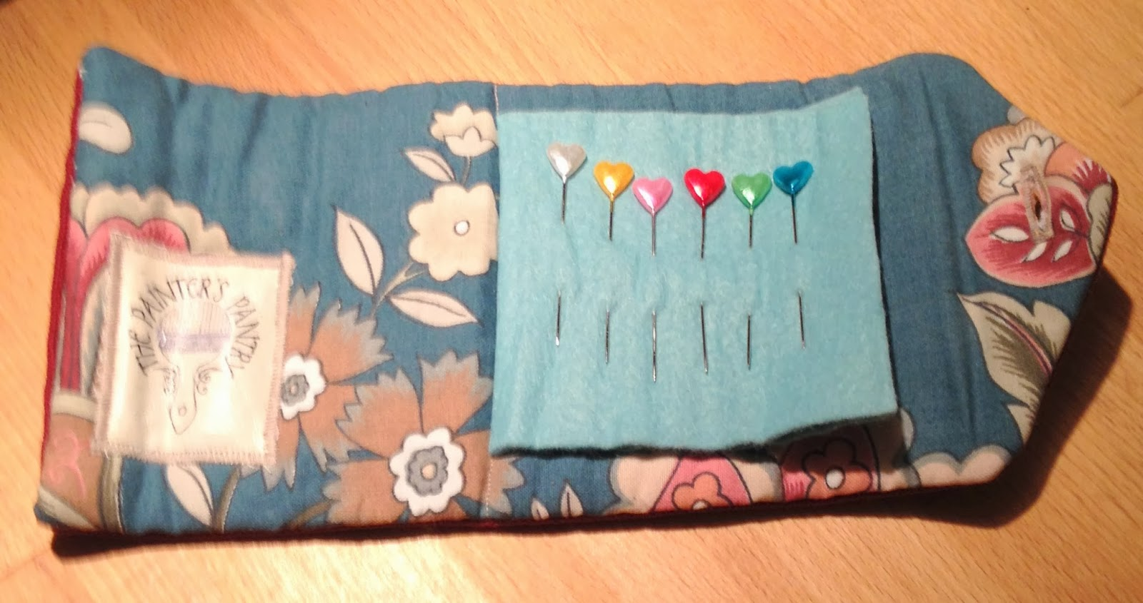 Pins and Needles Wrap made from upcycled material