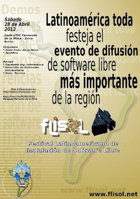 Imagen del FLISOL 2012 en Fernando de la Mora - Paraguay
