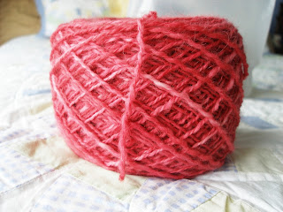 coral alpaca yarn