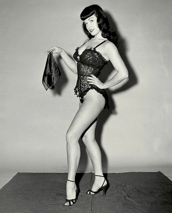Bettie Page S Black And White Photos In Bikini By Bunny