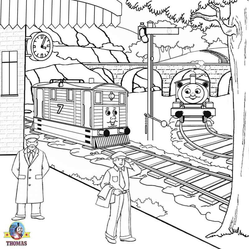Free Printable Railway Pictures Thomas Scenery Drawing For Coloring ...