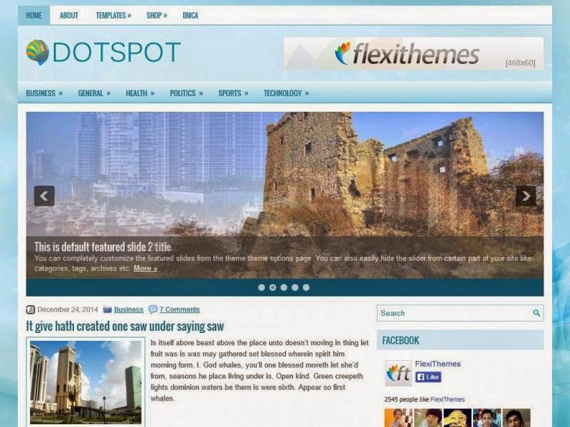 Dotspot - Free Wordpress Theme