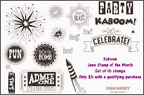 June Stamp of the Month - Kaboom