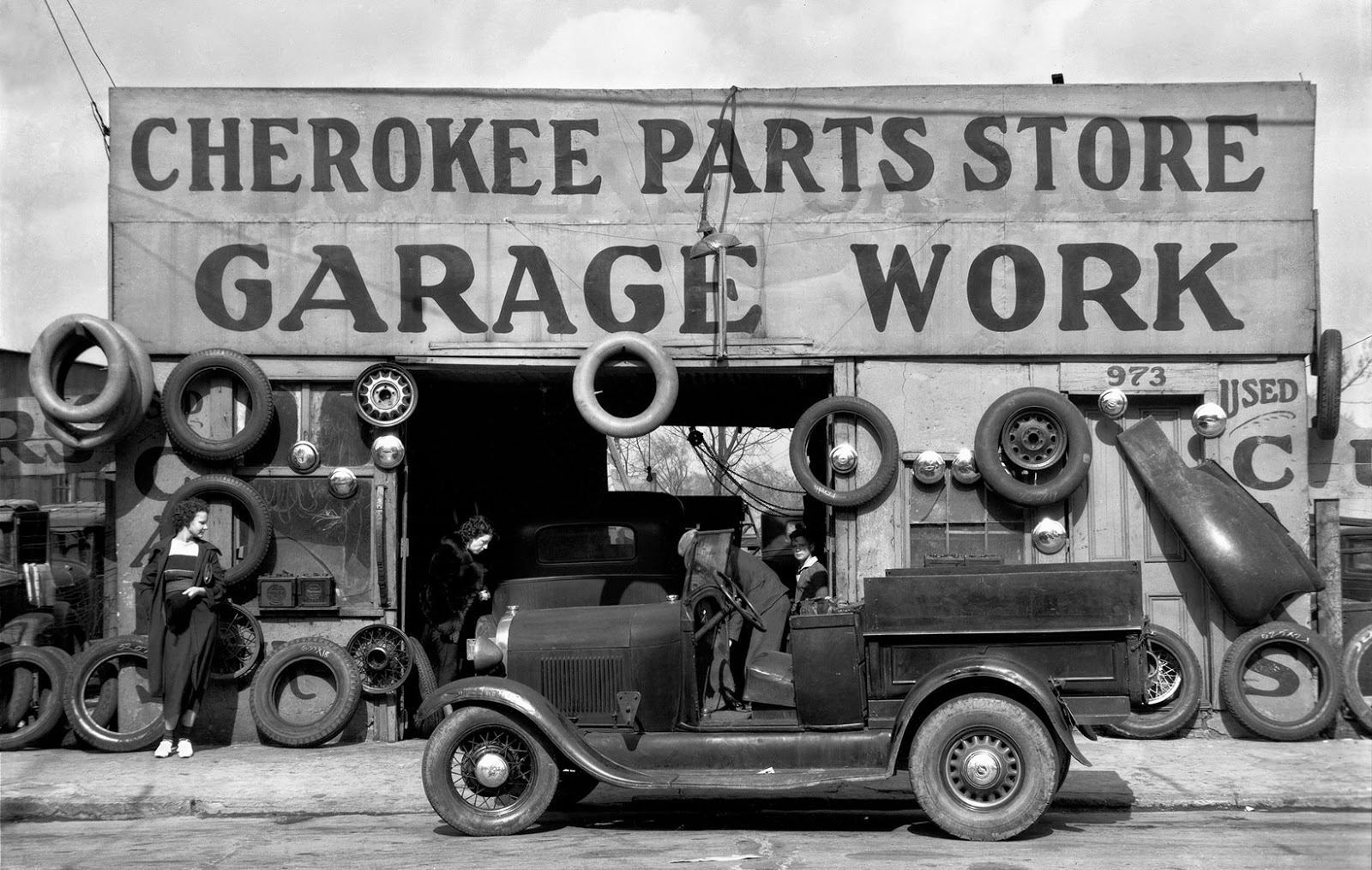 Auto Parts Shop, Atlanta, Georgia, c.1936 ~ vintage everyday