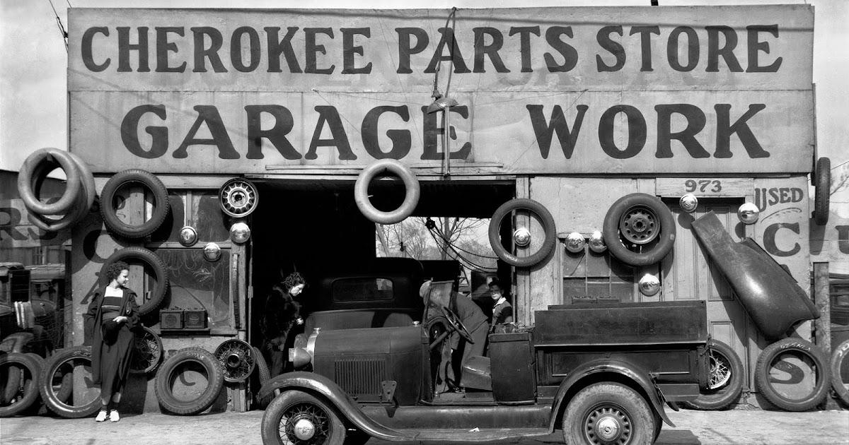 Vintage Everyday Auto Parts Shop Atlanta Georgia C 1936