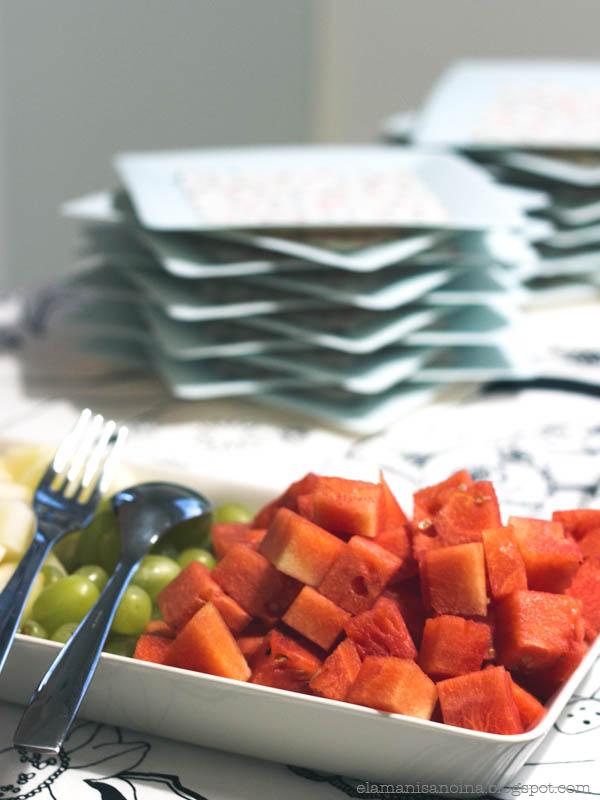 hedelmät, lastenjuhlien tarjoilut, vesimeloni, lastenjuhlat