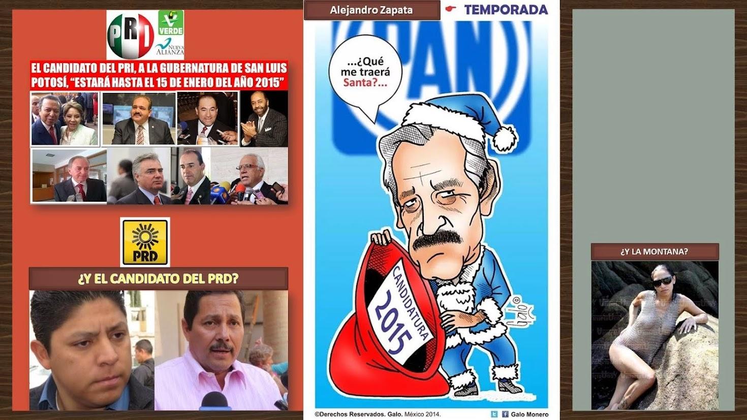 ELECCIONES 2015, PARA GOBERNADOR, EN EL ESTADO DE SAN LUIS POTOSÍ, MÉXICO.