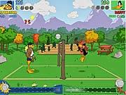 Vịt đánh bóng chuyền, chơi game bóng chuyền online
