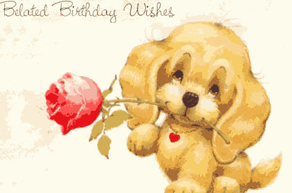 Belated Birthday Wishes Cards So Pretty Invitations And Greeting