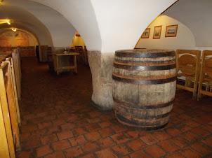 """Beer casks in """"U Medvidku beer hall pub"""""""