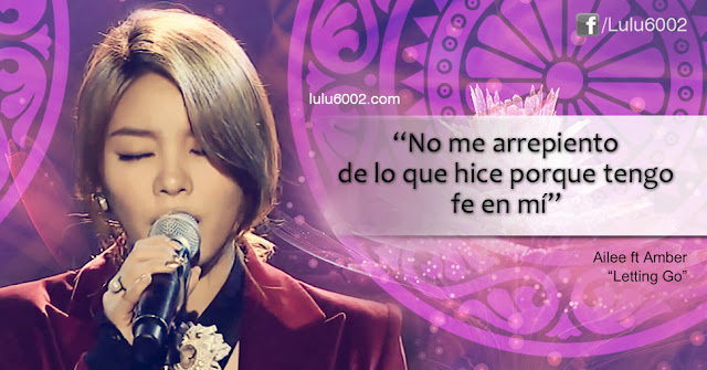 ailee ft amber letting go frases kpop