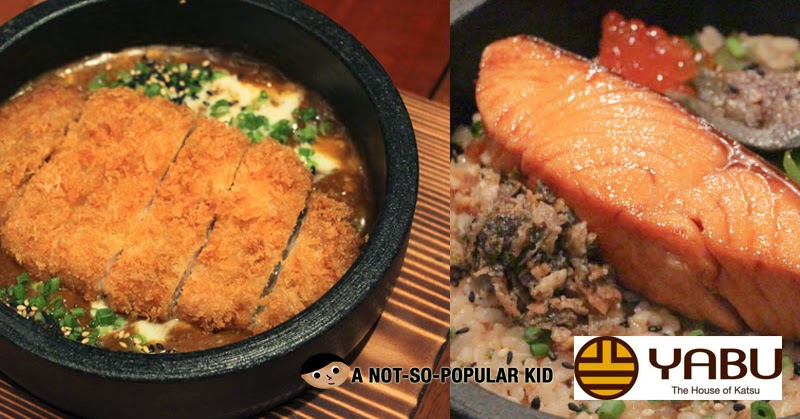 Yabu's New Dishes - Katsu Curry Don (left) and Salmon Don (right)