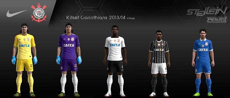 PES 2013 Corinthians 2013 Kit Set by steiein