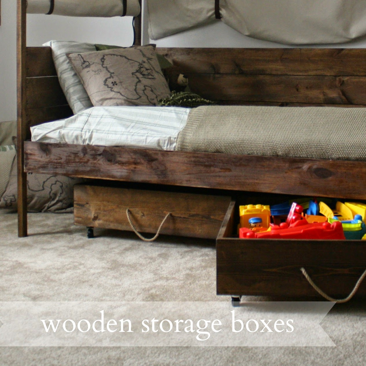 Live a little wilder wooden storage boxes tutorial for Wooden box tutorial
