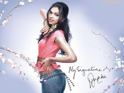 Hot Deepika Wallpaper with signature