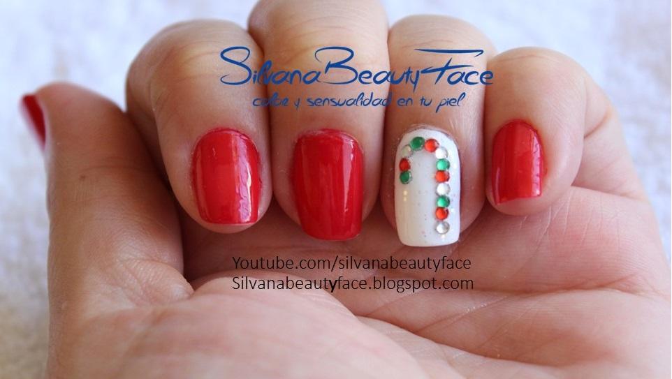 SILVANA BEAUTYFACE: Diseño de uñas de Navidad: bastoncillo de ...