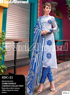 Gul Ahmed embroidery lawn collection 2013