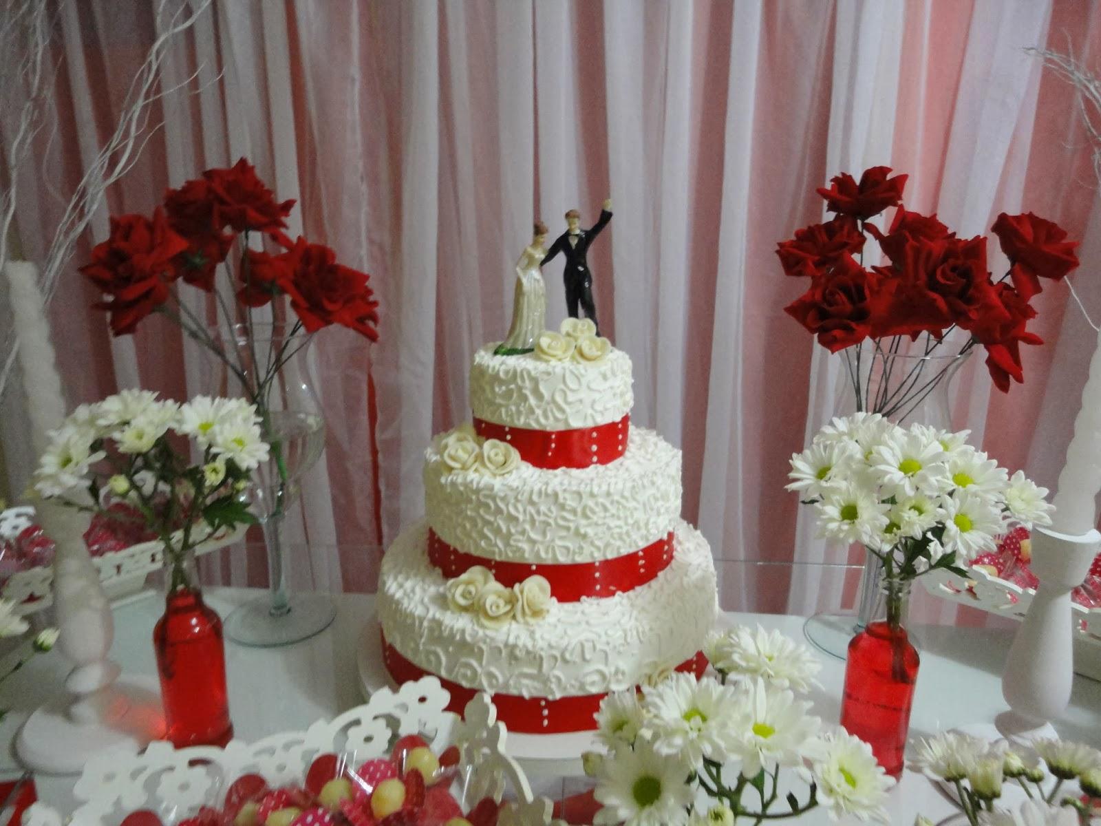 Buffet Talent u00b4s Decoraç u00e3o de Casamento Vermelho e Branco