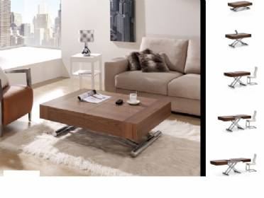 Mesa de centro elevable con mando a distancia y extensible - Mesas comedor para espacios pequenos ...